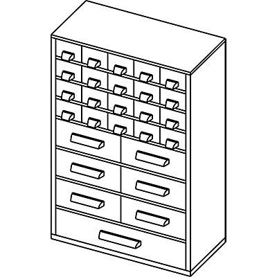 Schubladenmagazin - HxB 460 x 306 mm, 27 Schubladen