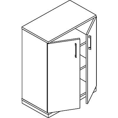 THEA Flügeltürschrank - 2 Fachböden, 3 Ordnerhöhen
