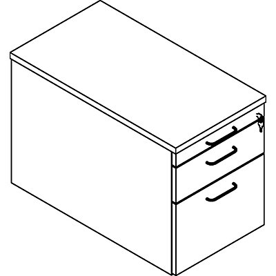 HANNA Rollcontainer - mit Materialschub und Hängeregistratur