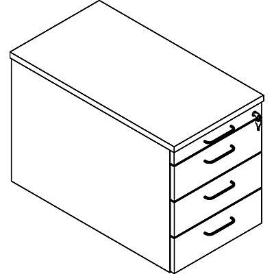 THEA Rollcontainer - Utensilienschub, 3 Materialschübe