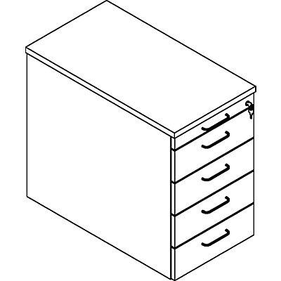 fm THEA Standcontainer - Utensilienschub, 4 Materialschübe