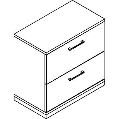 THEA Hängeregistraturschrank - 2 Schübe, zweibahnig