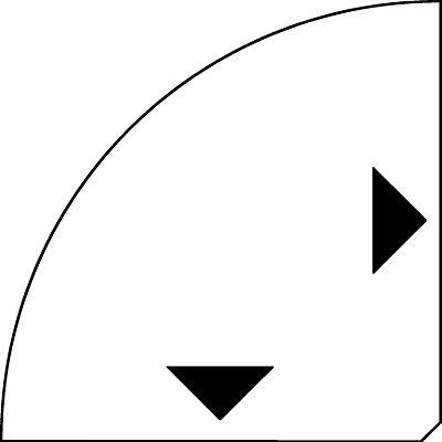 fm THEA Verkettungsplatte - 90° Viertelkreis