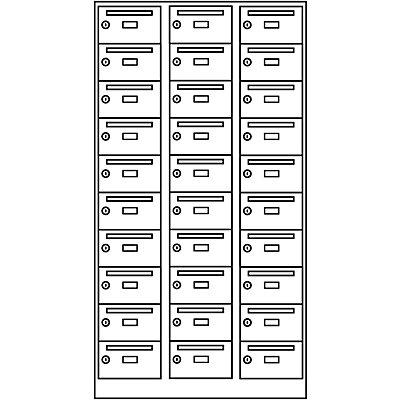 Wolf Armoire de distribution du courrier - 30 compartiments, verrouillable