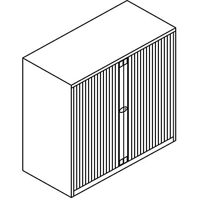 Bisley Rollladenschrank - horizontal, lichtgrau ähnlich RAL 7035