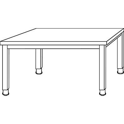 HAMMERBACHER RENATUS Schreibtisch - 4-Fuß-Gestell, Breite 1200 mm