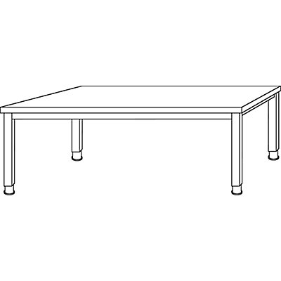 HAMMERBACHER RENATUS Schreibtisch - 4-Fuß-Gestell, Breite 1800 mm