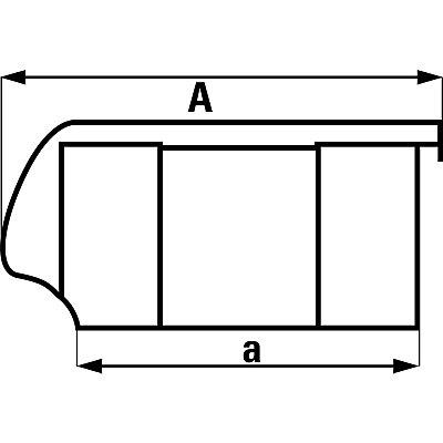Bac à bec FUTURA en polyéthylène - capacité 11,0 l