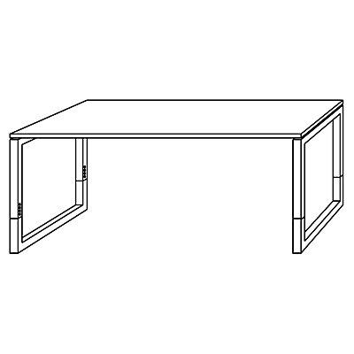 HAMMERBACHER ANNY Büro-Schreibtisch – BxT 1800 x 800 mm mit Vierkant-Stahlrohr