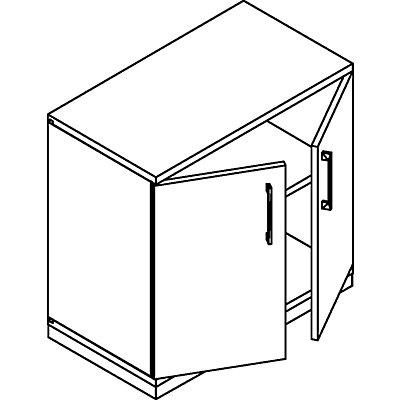 THEA Flügeltürschrank - 1 Fachboden, 2 Ordnerhöhen