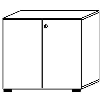 HAMMERBACHER Armoire de bureau - portes battantes, 1 tablette