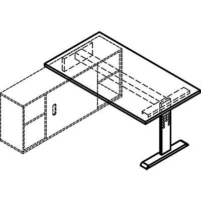 Hammerbacher FINO Auflage-Schreibtisch - BxT 1600 x 800 mm