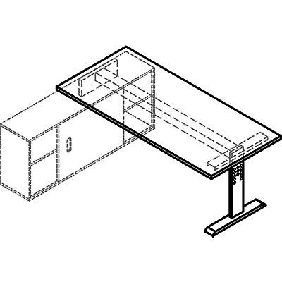 Hammerbacher FINO Auflage-Schreibtisch - BxT 1800 x 800 mm