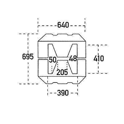 Romold Säulen- und Pfostenschutz - aus Polyethylen, gelb, LxBxH 500 x 640 x 1000 mm