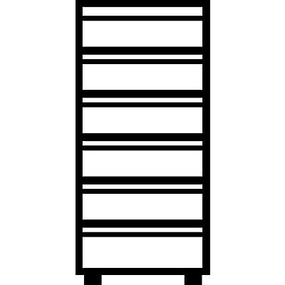 Mauser Karteischrank, Griffleisten - 6 Schübe, 2-bahnig