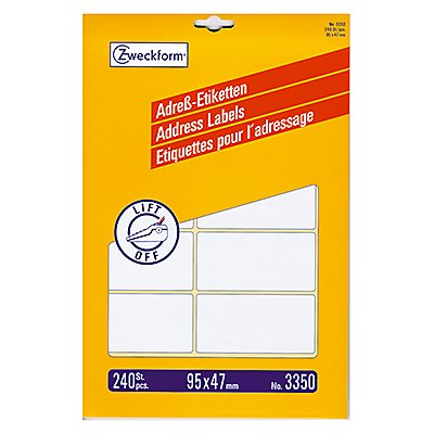 Avery Zweckform Adressetikett 3350 95x47mm weiß 240 St./Pack.