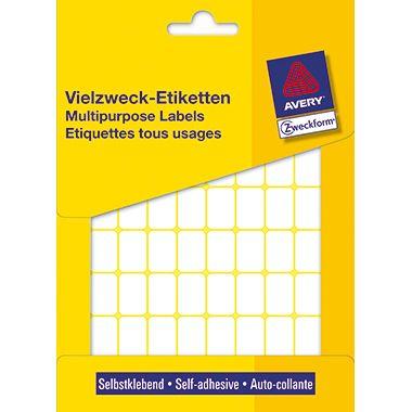 Avery Zweckform Vielzwecketikett 3312 18x12mm weiß 1.800 St./Pack.