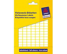 Avery Zweckform Vielzwecketikett 3306 13x8mm weiß 3.712 St./Pack.