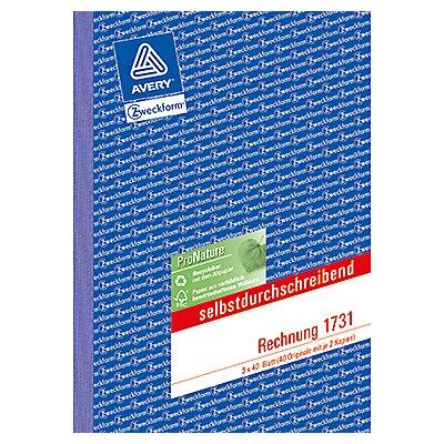 Avery Zweckform Rechnung 1731 DIN A5 3x40Blatt