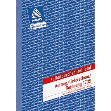 Avery Zweckform Auftragsformular 1739 DIN A5 2x40Blatt