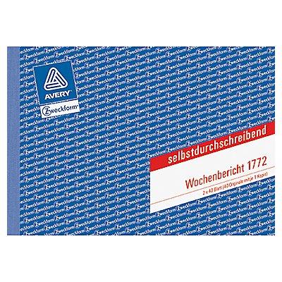 Avery Zweckform Wochenbericht 1772 DIN A5 quer 80Blatt
