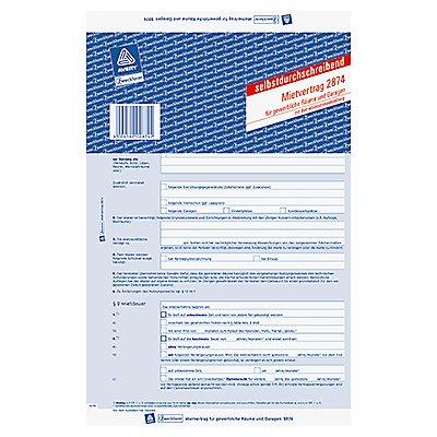 Avery Zweckform Mietvertrag 2874 DIN A4 2x3Blatt