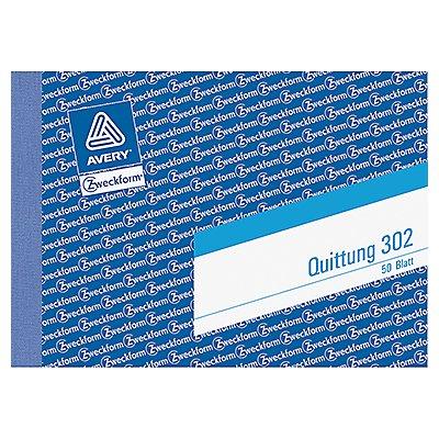 Avery Zweckform Quittung 302 DIN A6 quer 50Blatt
