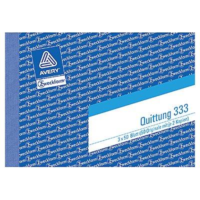 Avery Zweckform Quittung 333 DIN A6 quer 3x50Blatt