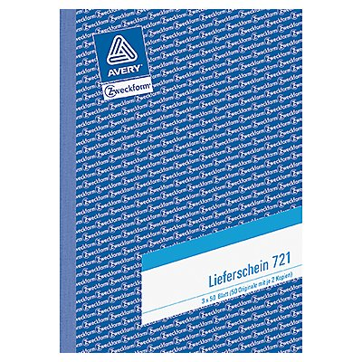 Avery Zweckform Lieferschein 721 DIN A5 3x50Blatt