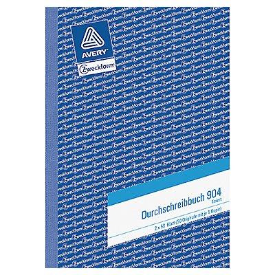 Avery Zweckform Durchschreibebuch 904 DIN A5 liniert 2x50Blatt