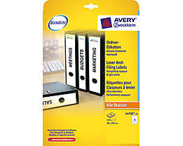 Avery Zweckform Ordneretikett L4758-25 38x297mm ws 125 St./Pack