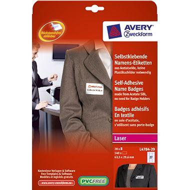 Avery Zweckform Namensetikett L4784-20 63,5x29,6mm 540 St./Pack.