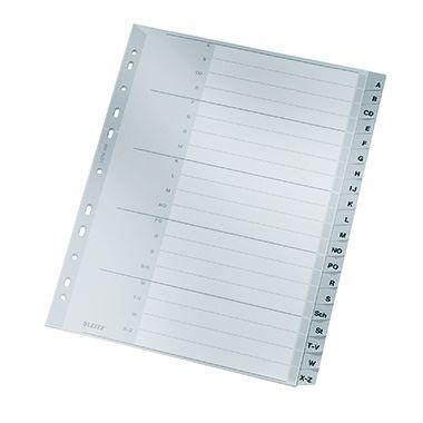 Leitz Register 12600000 A-Z DIN A4 20teilig PP grau