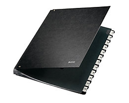 Leitz Pultordner 58120095 DIN A4 12Fächer Hartpappe schwarz