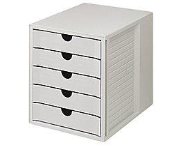 HAN Schubladenbox Systembox 1450-14 DIN C4 5Schubfächer bl