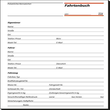 Sigel Fahrtenbuch FA514 DIN A5 für PKW/LKW 32Blatt