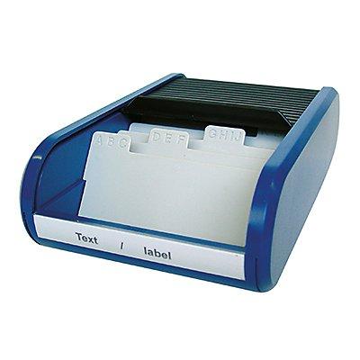 helit Visitenkartenbox Linear H6218030 300Karten blue lagoon