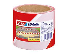 tesa Absperrband Signal 58137-00000 80mmx100m rot/weiß