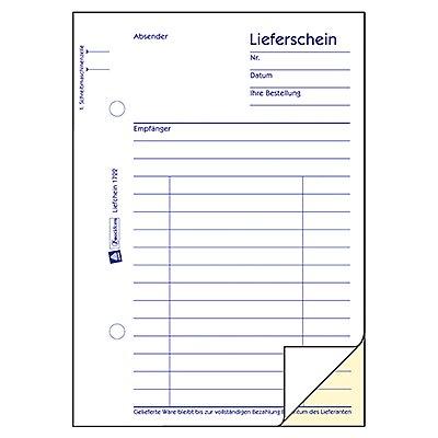 Avery Zweckform Lieferschein 724 DIN A6 2x50Blatt