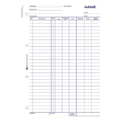 Avery Zweckform Aufmaßbuch 1318 DIN A4 100Blatt