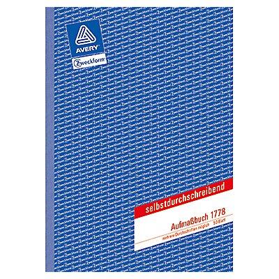 Avery Zweckform Aufmaßbuch 1778 DIN A4 50Blatt