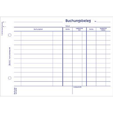 Avery Zweckform Buchungsbeleg 308 DIN A5 quer 50Blatt