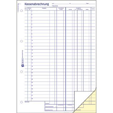 Avery Zweckform Kassenabrechnung 428 DIN A4 2x50Blatt