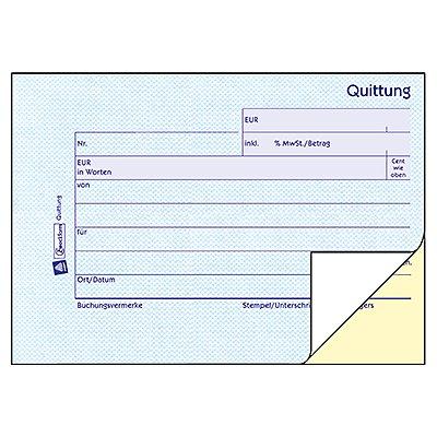 Avery Zweckform Quittung 1736 DIN A6 quer 2x40Blatt