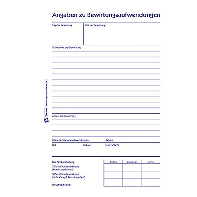 Avery Zweckform Bewirtungskostenbeleg 745 DIN A5