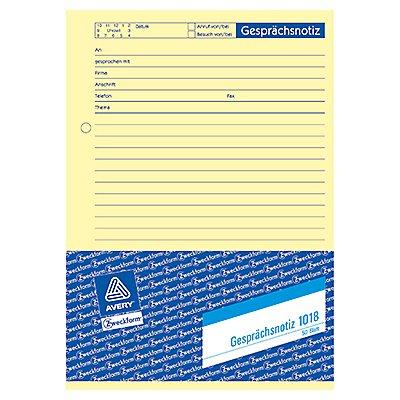 Avery Zweckform Gesprächsnotiz 1018 DIN A5 gelb 50Blatt