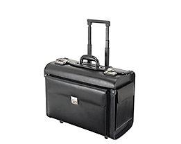 Travel Line Pilotenkoffer SILVANA TL/430412390 Echt Leder schwarz
