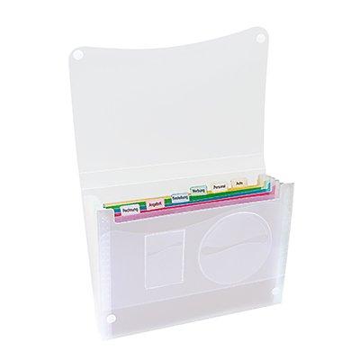 Fächertasche DIN A4  Polypropylen transluzent