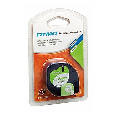 DYMO Schriftbandkassette LetraTag S0721520 12mmx4m weiß auf schwarz