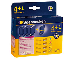 Soennecken Tintenpatrone 82166 Gr.1603 Epson C13T061 5 St./Pack.